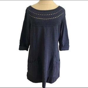 Soft Sweater Dress Navy Blue w/ Pockets! Sz M